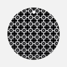 Abstract Graphic Tile Pattern Ornament (Round)