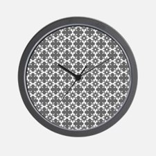 Abstract Graphic Tile Pattern Wall Clock
