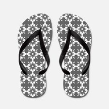 Abstract Graphic Tile Pattern Flip Flops