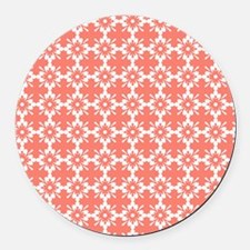 Abstract Graphic Tile Pattern Round Car Magnet