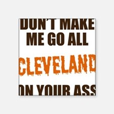 "Cleveland Football Square Sticker 3"" x 3"""