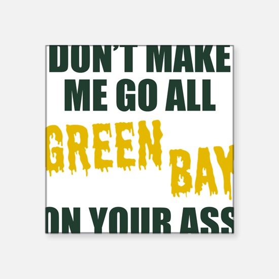 "Green Bay Football Square Sticker 3"" x 3"""