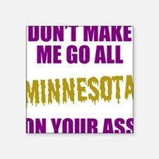 "Minnesota Football Square Sticker 3"" x 3"""
