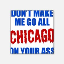"Chicago Baseball Square Sticker 3"" x 3"""