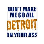 Detroit Baseball Square Sticker 3