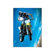 Motocross Side Trick 5'x7'Area Rug