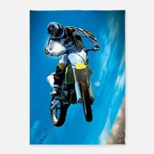 Motocross Side Trick 5'x7'Area Rug