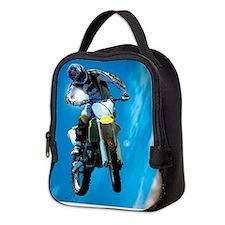 Motocross Side Trick Neoprene Lunch Bag