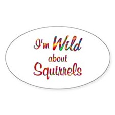 Wild About Squirrels Decal