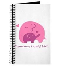 Mommy Loves Me, Cute Elephant and Baby Journal