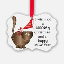 I wish you a MEOW-y Christmas and Ornament