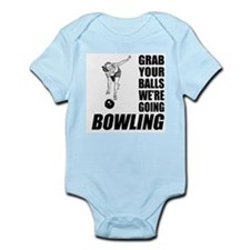 Grab Your Balls Bowling Infant Bodysuit