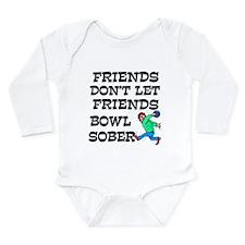 Drunken Bowling Long Sleeve Infant Bodysuit
