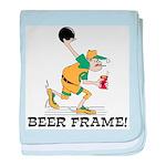 Beer Frame Bowling baby blanket