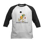 Beer Frame Bowling Kids Baseball Jersey