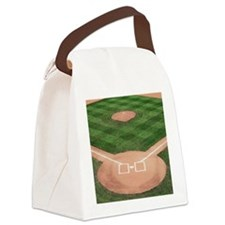 Baseball Diamond Canvas Lunch Bag