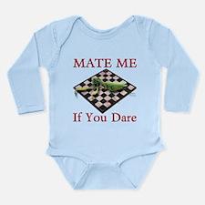 Mate Me Chess Long Sleeve Infant Bodysuit