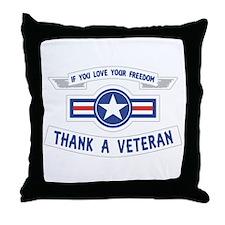Thank a Veteran Throw Pillow