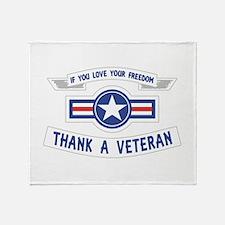 Thank a Veteran Throw Blanket