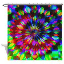 Rainbow Hippie Swirl Shower Curtain