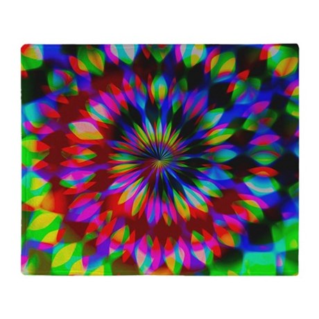 Rainbow Hippie Swirl Throw Blanket