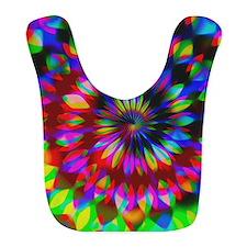 Rainbow Hippie Swirl Bib