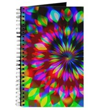 Rainbow Hippie Swirl Journal