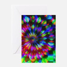 Rainbow Hippie Swirl Greeting Cards
