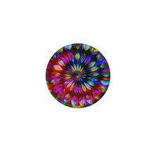 Rainbow Hippie Swirl Mini Button