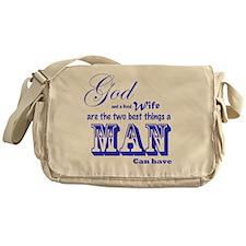 God and Wife Messenger Bag