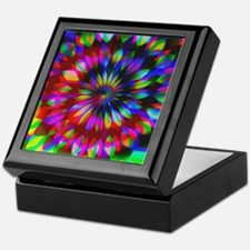 Rainbow Hippie Swirl Keepsake Box