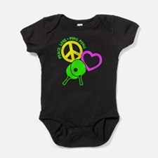 PEACE-LOVE-PINGPONG Baby Bodysuit