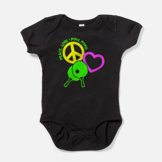 PEACE-LOVE-PINGPONG Baby Bodysuit