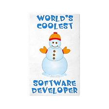 World's Coolest Software Developer 3'x5' Area Rug
