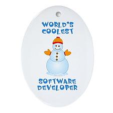 World's Coolest Software Developer Ornament (Oval)