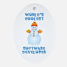 World's Coolest Software Developer Ornament (Oval)
