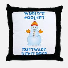 World's Coolest Software Developer Throw Pillow