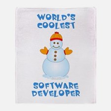 World's Coolest Software Developer Throw Blanket