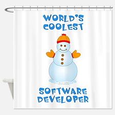 World's Coolest Software Developer Shower Curtain