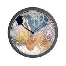 Art Deco Vanity Lady Wall Clock