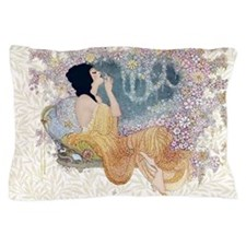 Art Deco Vanity Lady Pillow Case