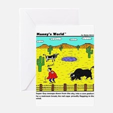 SUPER GUY TAKES A BREAK Greeting Cards (Package of