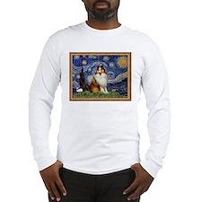 Starry Night & Sable Sheltie Lg Sleeve T-Shirt