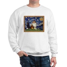 Starry Night & Sable Sheltie Sweatshirt