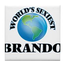 World's Sexiest Brando Tile Coaster