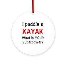 paddle kayak Ornament (Round)
