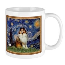 Starry Night & Sable Sheltie Small Mugs
