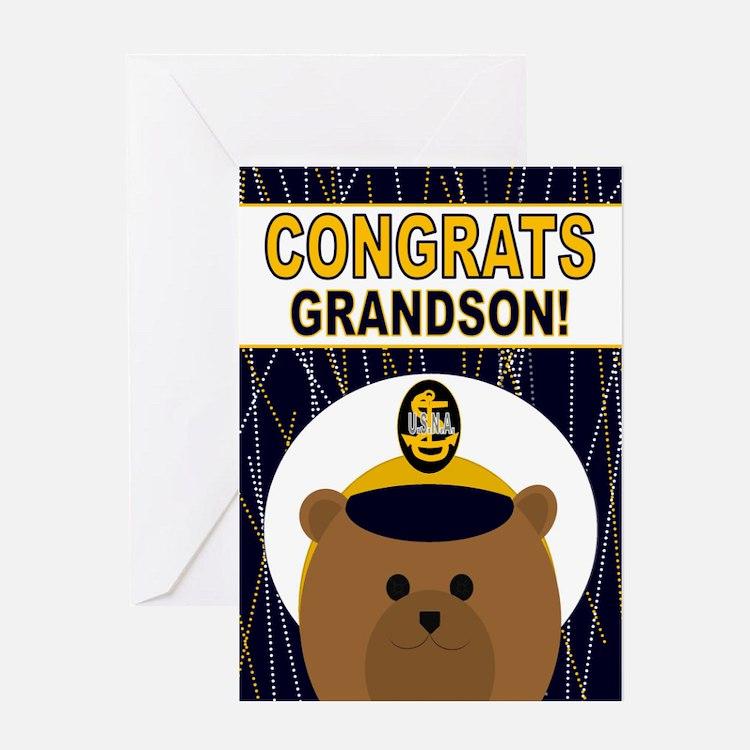 Usna Congrats Grandson Greeting Cards