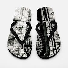 Black and white door Flip Flops