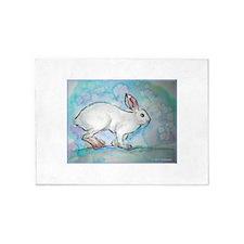 Snowshoe rabbit, Wildlife art! 5'x7'Area Rug